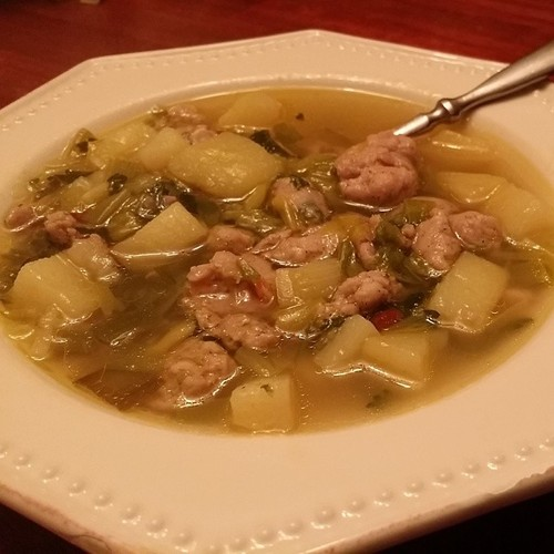 Chicken Sausage and Leek Soup